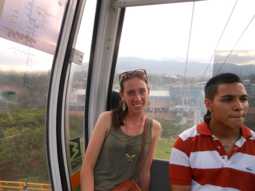 Part of Medellín's famed innovation is its metro and cable cars, like this one that connect a slum in the hills with the affluence down below.